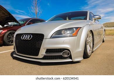Parker, Colorado - April 8, 2017: Audi TTS quattro