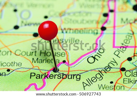 Parkersburg West Virginia Map.Parkersburg Pinned On Map West Virginia Stock Photo Edit Now