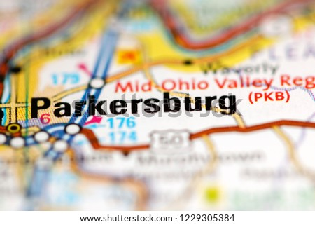 Parkersburg West Virginia Map.Parkersburg West Virginia Usa On Geography Stock Photo Edit Now