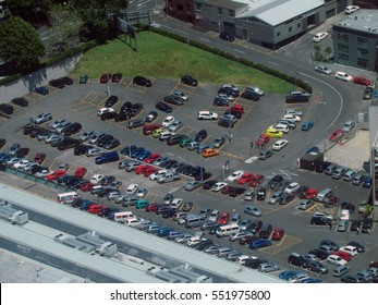Parking lot above