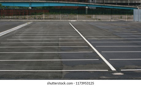 Parking bays in Salford Quays.