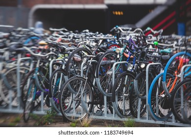 Parking of bicycles in Amsterdam, near Amsterdam Centraal railway station