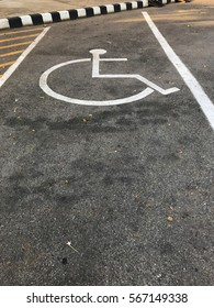 parking for the disabled white icons for the garden