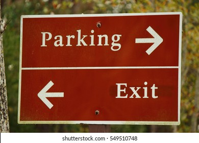PARKING AND EXIT SIGN