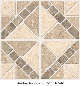 Parking Floor Design Tiles for Digital, Stone Geometric Tiles Design for Floor,