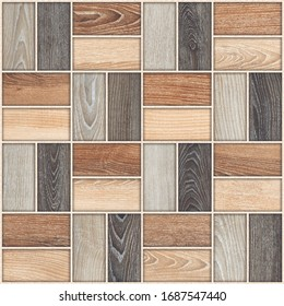 Parking Floor Tiles Design, Architectural Idea, Seamless Wood Tiles, Seamless Abstract for Out Door Tiles