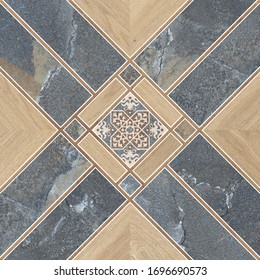 Parking Floor Tiles, Stone and Wood Textured Tiles Decor