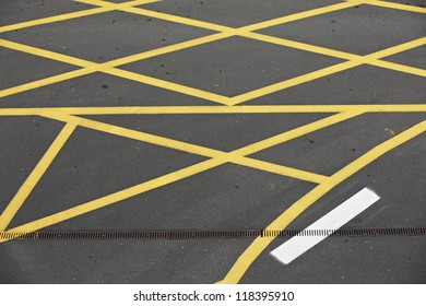 Parking forbidden - yellow road marking