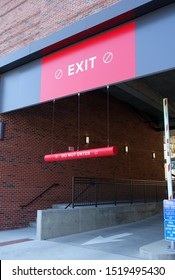 Parking Garage Exit, Lift Gate and Signage