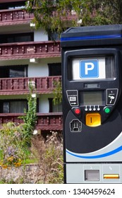 Parking machine in a ski resort area.