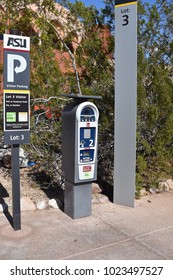 Parking meter at ASU Grady Gammage auditorium Tempe Arizona 2/11/18