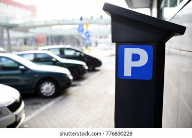 parking meter with park symbol