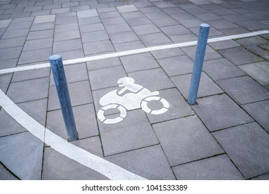 Parking lot for motorcycles