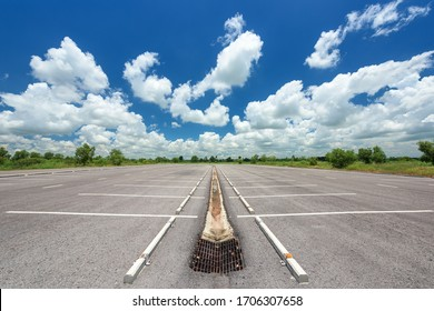 Parking lot in public areas with blue sky