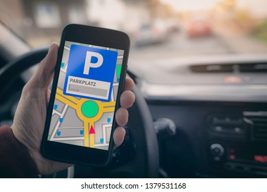 Parking search with mobile phone app