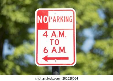 A parking sign.