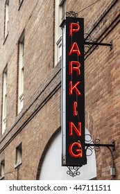 Parking sign in the city of New Orleans. Louisiana, United States