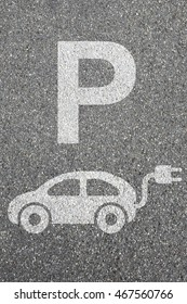 Parking lot sign electric car park charging station eco friendly mobility transportation