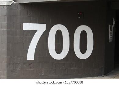 Parking Lot Signage 700 Seven Hundred