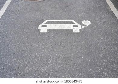 Parksymbol für elektrische Ladestation