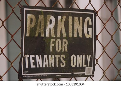 PARKING FOR TENANTS ONLY SIGN
