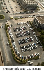 Parking, tilt shift effect
