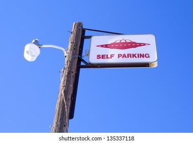 Parking UFO in Rachel, Nevada (USA)