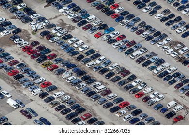 Parking lot viewed from above
