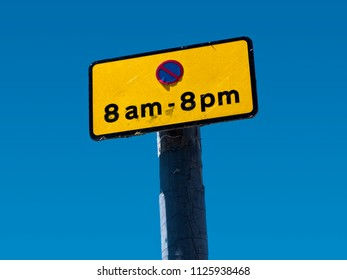 Parking or Waiting restriction sign