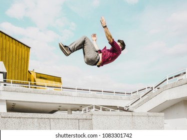 Parkour falling from Heights