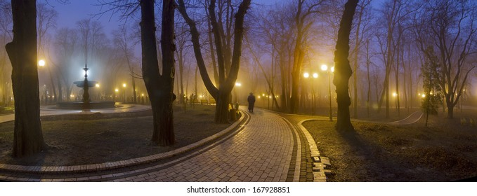 Parks Kyiv-his pride. Old trees surrounded by ancient buildings, which look beautiful on their background. Many buildings account for hundreds of years carefully stored citizens and government capital