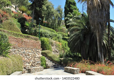 parks and squares in the city of Malaga Spain