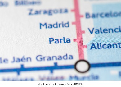 Parla, Spain on a geographical map.