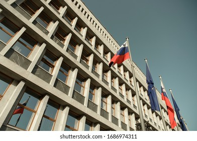 Parlament building in the capital of Slovenia Ljubljana