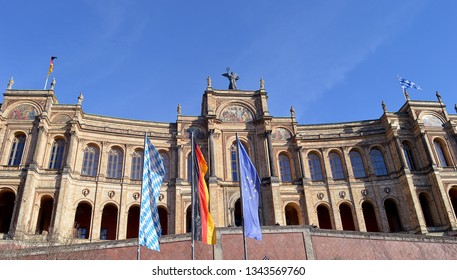 The parliament of Bavaria (the Landtag) meets in the Maximilianeum on the banks of the Isar in Munich, Germany, built by King Maximilian II in 1857,  as a college for gifted Bavarian students.