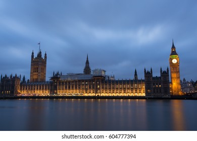Parliament and Big Ben on sunset background