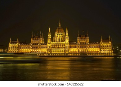 Parliament, Budapest, Hungary at night