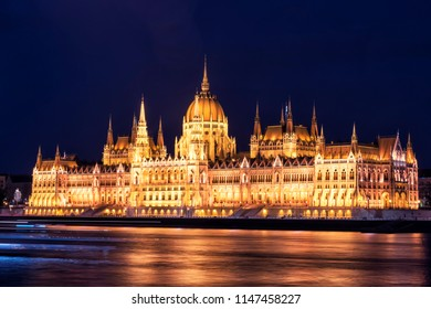 Parliament of Budapest at Sunset