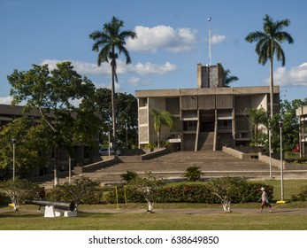 The parliament building in Belmopan, the capital city of Belize