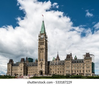 Parliament Building of Canada on Parliament Hill in Ottawa, Ontario, Canada