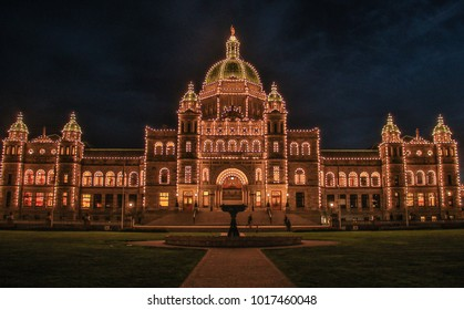 Parliament building in city of Victoria in Vancouver Island, Canada