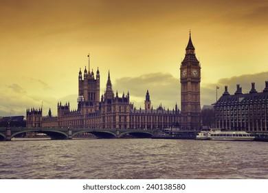 Parliament building in London, UK.