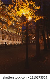 Parliament building in Riga in autumn