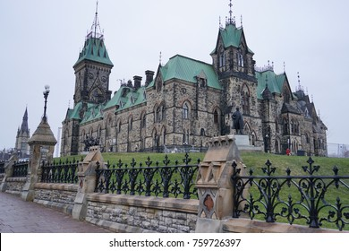 Parliament Hill in Ottawa with Parliamentary and Departmental Buildings