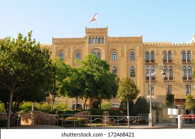 Parliament house in Beirut, Lebanon. Editorial.