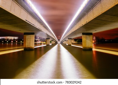 Parliament House, Canberra, Australia - Between the Bridge