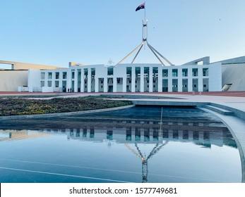 Parliament House Canberra Landmark Reflection Blue Australia Tourism