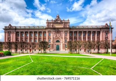 Parliament house (Riksdag), Stockholm, Sweden