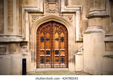 parliament in london old church door and marble antique  wall