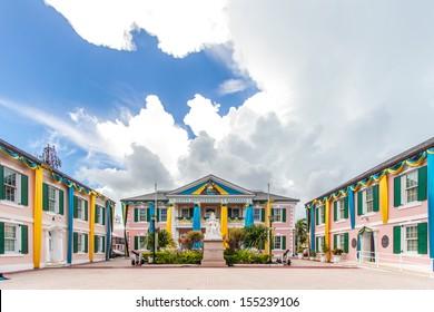 Parliament Square in Nassau, Bahamas.